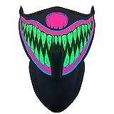 Mallalah Máscara de música LED,...