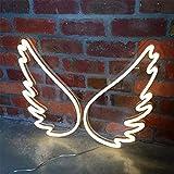 Letrero de luz de neón LED ala de...