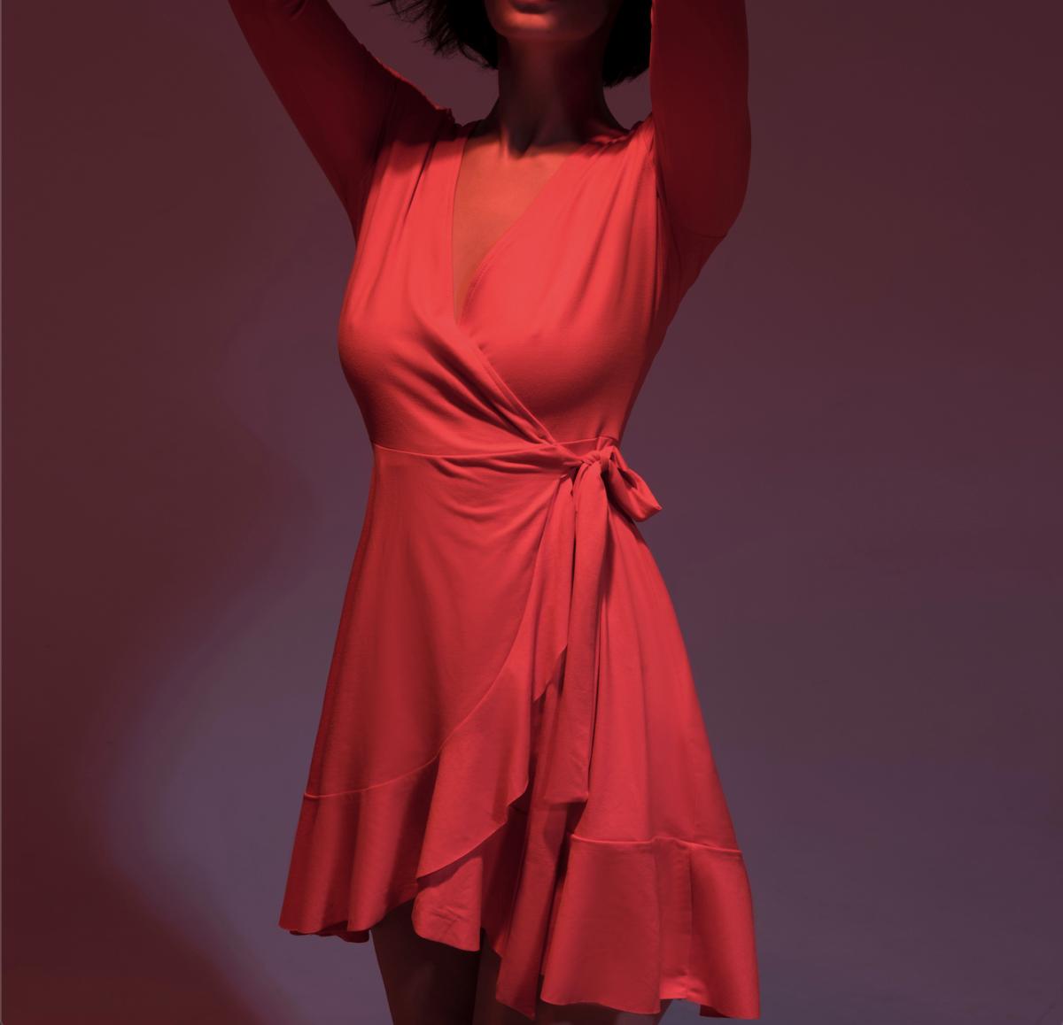 vestido rojo mujer corto de fiesta