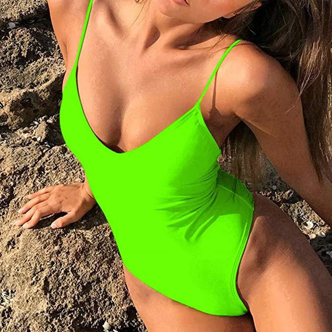 bañador verde mujer verano