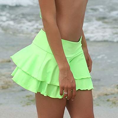 falda vernde neon corta
