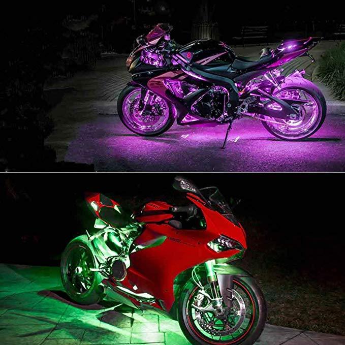 luces de neón led para moto