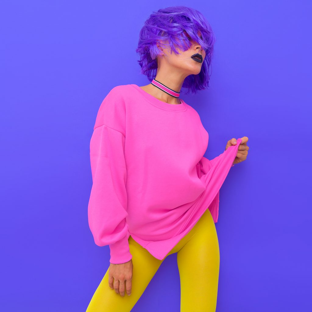 sudadera rosa fosforita neon
