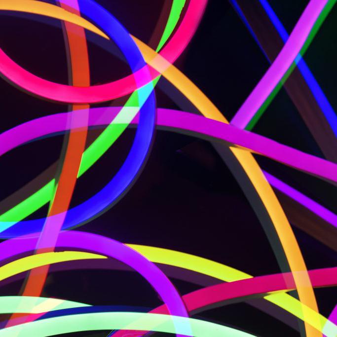 luces de colores azul fluor vede amarillo fosforito