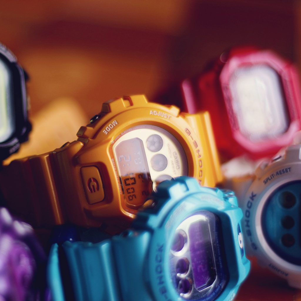 relojes g-shock colores fluor