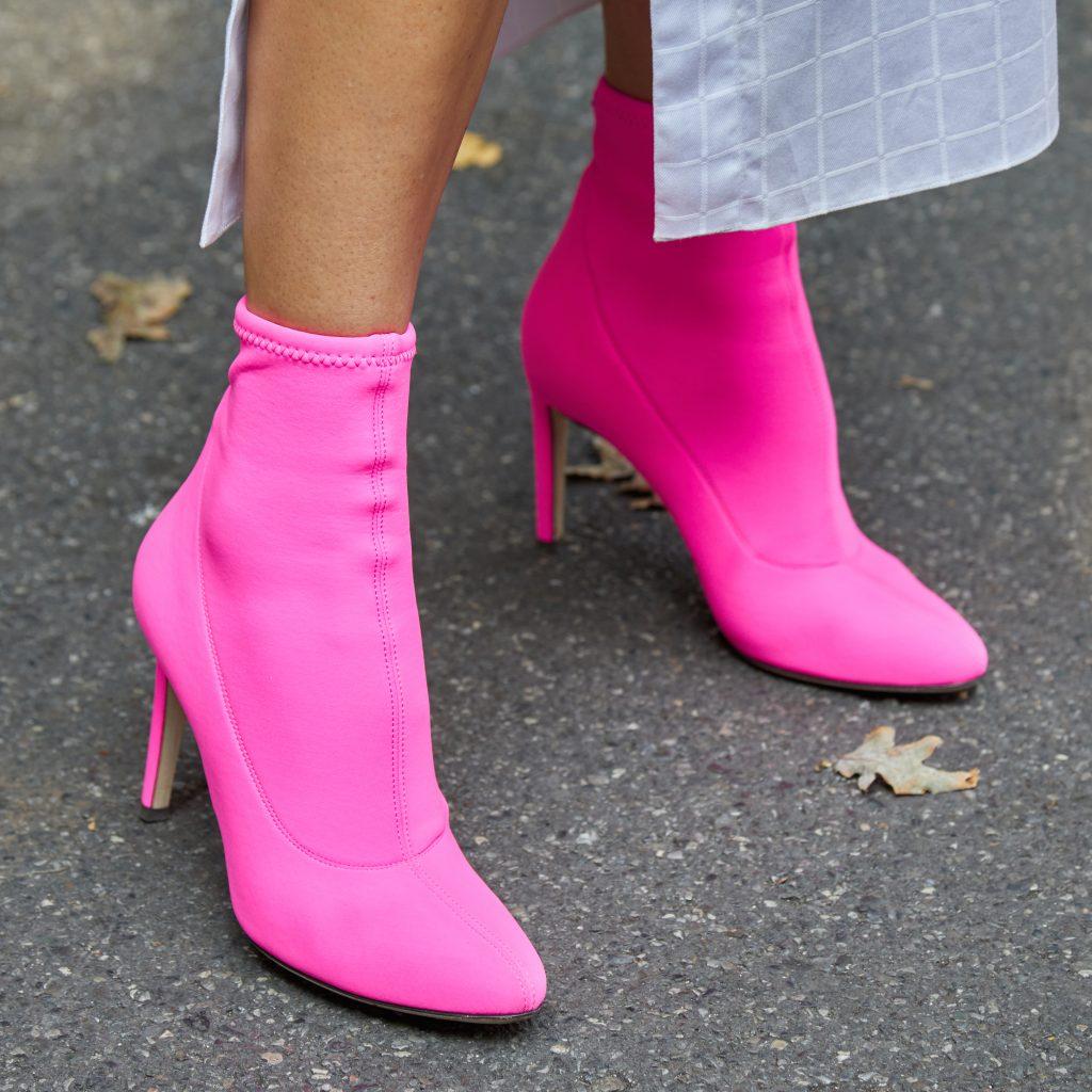 tocones rosas neon fluor